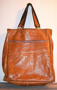 woven leather shopper