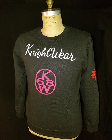 black,red and white kw crewneck