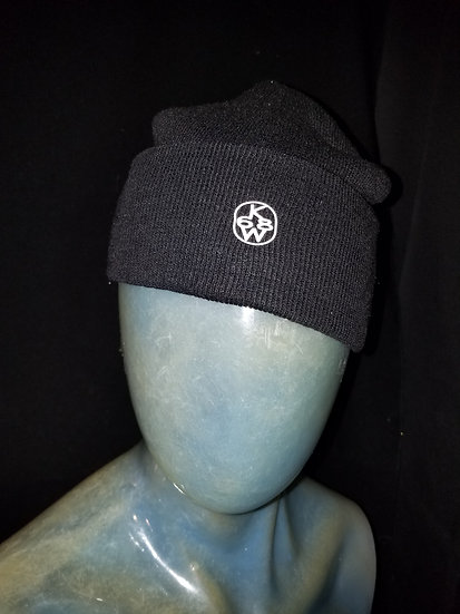 Black and white knightwear68 knit hat