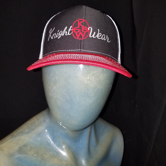 Red black and white knightwear68 snapback
