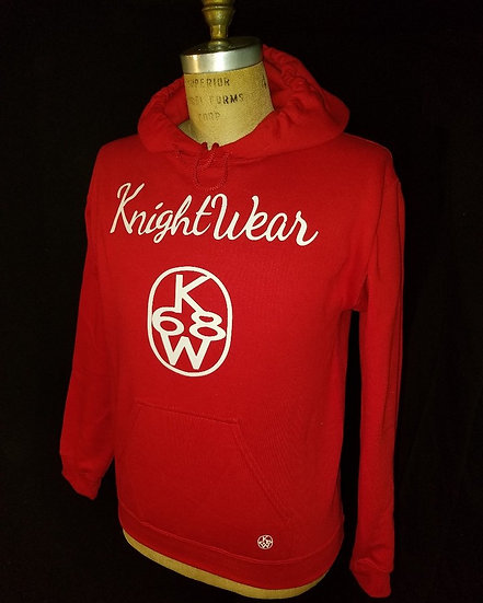 red and white kw hoodie