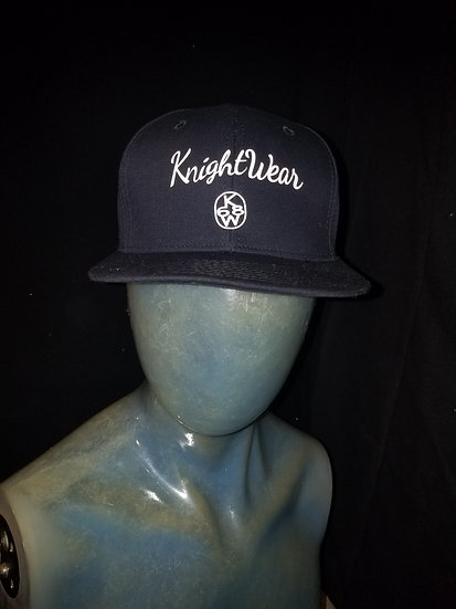 Navy Blue and white knightwear68 snapback
