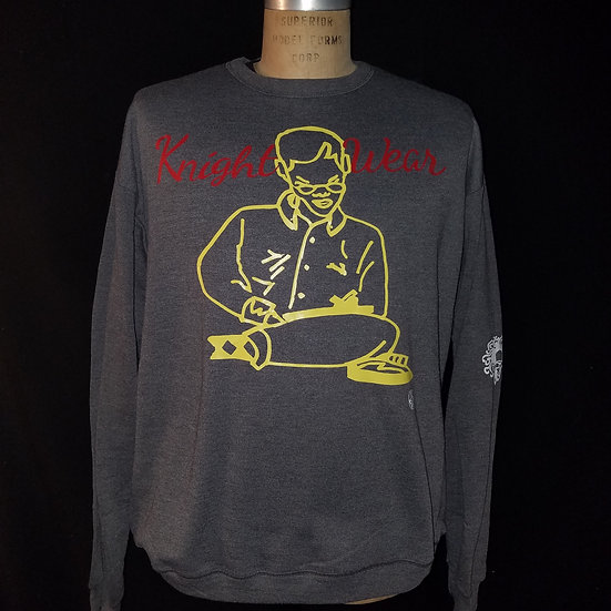 Heather grey knightwear68 sketching crewneck