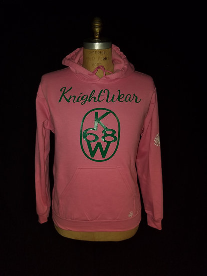 Pink and green knightwear68 hoodie