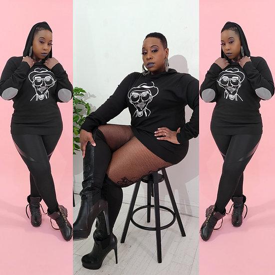 Super soft hoodie in black