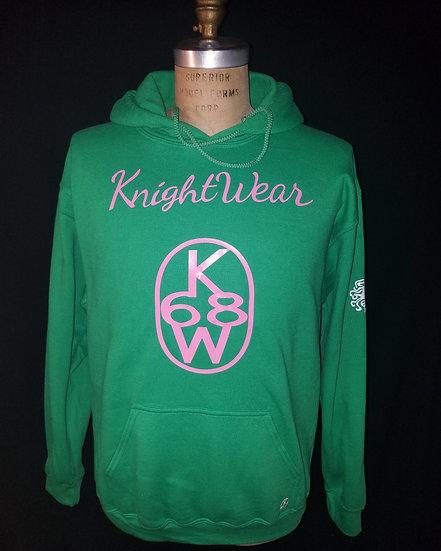 Green and pink knightwear68 hoodie