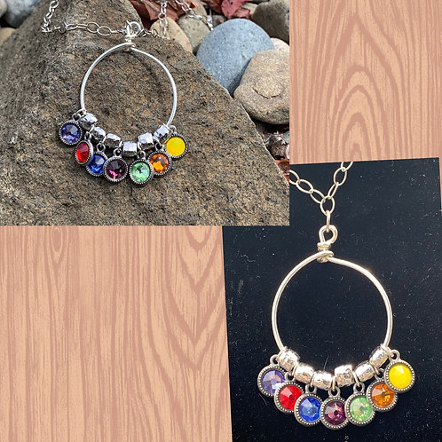 The 7 Chakras Circle Necklace