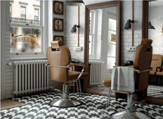 Caprice Black and White Block Porcelain Floor and Wall Tiles.  Equipe.  Spanish Tiles