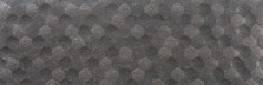 Basalt Antracite Hexagon rectified ceramic wall tile. Azulev