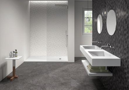 Basalt Antracite Rectified Porcelain Floor Tiles.  Azulev. Spanish Tiles