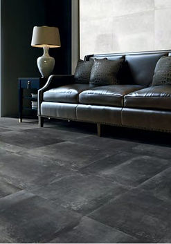 Hemisphere Iron.  Metallic.  Metal effect tile.  Rectified floor tile.  Gambini