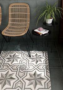 Bloomsbury 2, Art Nouveau Cinema Grey, Equipe tiles, Rovic Tiles, Encaustic tiles, traditional tiles, Original Style