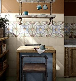 Bloomsbury 10, Art Nouveau Viena, Equipe Tiles, Rovic Tiles, encaustic tiles, traditional tiles, Original Style