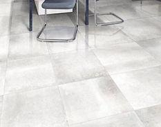 Hemisphere Platinum.  Metallic.  Metal-effect tiles.  Rectified floor tile.  Gambini