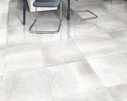 Hemisphere Platinum.  Metallic.  Metal-effect tiles.  Rectified floor tile.  Gambini