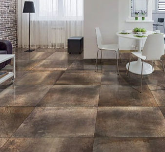 Hemisphere Copper.  Metallic.  Metal effect tiles.  Rectified floor tiles.  Gambini