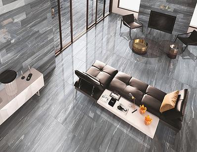 Deluxe Dark Grey Tiles, Luxe Tiles, Cerdomus Tiles, Rovic Tiles, Polished Porcelain, Porcelain Floor Tiles, Italian Floor Tiles