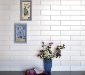 Evolution White Matt.  Equipe.  Metro Tiles. Brick Tiles