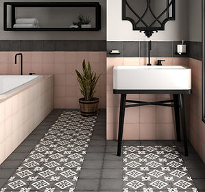 Bloomsbury 1, Art Nouveau Padua Black, Equipe Tiles, Rovic Tiles, Encaustic tiles, Original Style