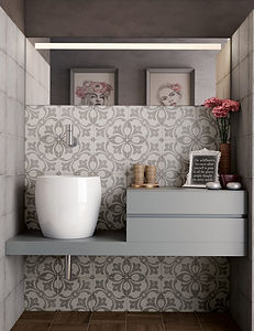 Bloomsbury 3, Art Nouveau Rambia Grey, Equipe Tiles, Rovic Tiles, encaustic tiles, traditional tiles, Original Style, Moroccan tiles