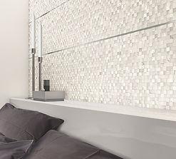 Pulpis Bianco pixel decor, Decadence Bianco, Cerdomus Tiles, porcelain floor tiles, Rovic Tiles