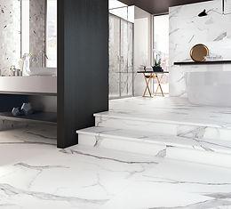 Statuario Bianco, Cerdomus Tiles, Porcelain Tiles, Step Tiles, Rovic Tiles, Italian Floor Tiles