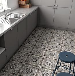 Bloomsbury 11, Art Nouveau Opera Grey, Equipe Tiles, Rovic Tiles, encaustic tiles, moroccan tiles, traditional tiles, Original Style