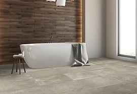 cerabeton amb taupe concrete effect stoneware porcelain tiles rovic