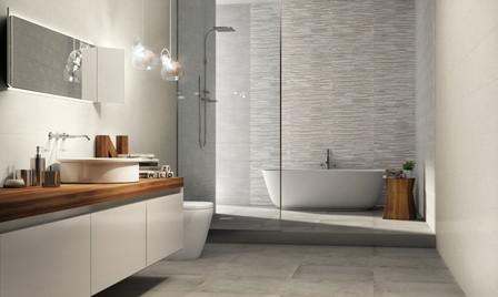 Star Concrete, Start Concrete 3D and White Clay.  Naxos tiles
