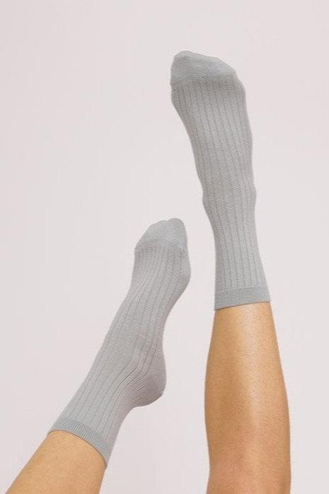 Bordázott biopamut zokni (2 pár)