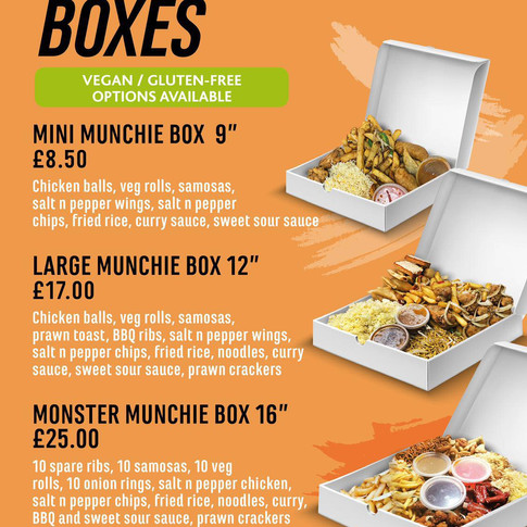 Munchy boxes