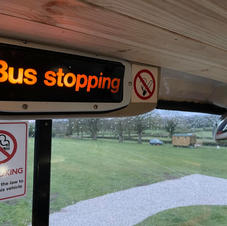 This bus is stopping