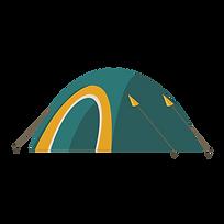Ivy Bank Campsite Illustration - Tent.pn