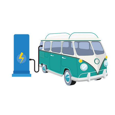 Ivy Bank Campsite Illustration - Electri