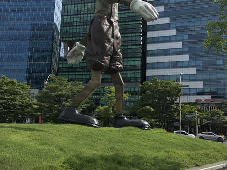 A giant Pinocchio in Busan