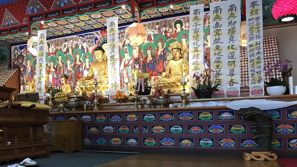 Korean old Buddhist temple at Hadong-gun, Kyonsan Nando