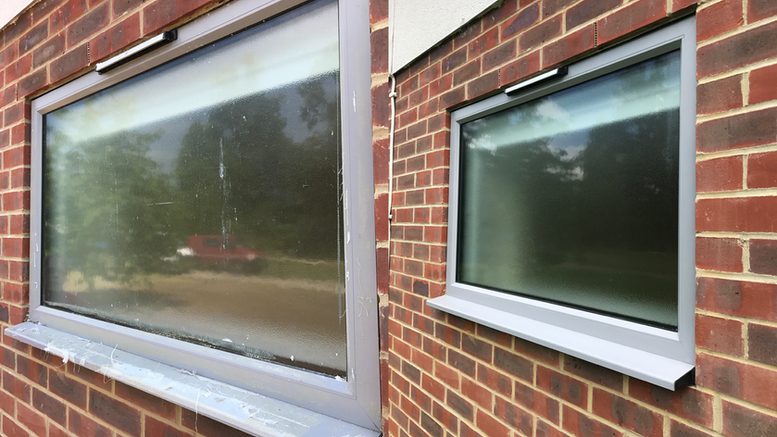 End of build window cleaning