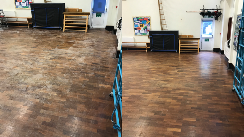 Post build floor cleaning