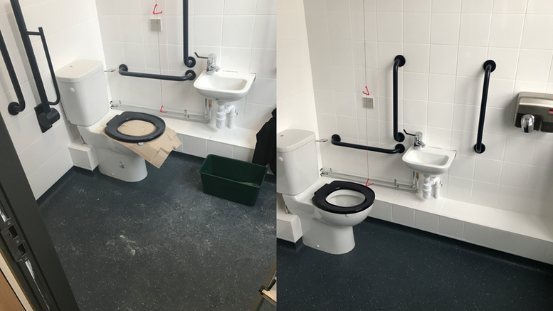 New accessible toilet