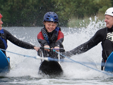 Kids waterski camp