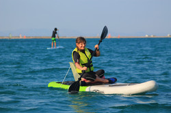 Sit down stand up paddleboard!
