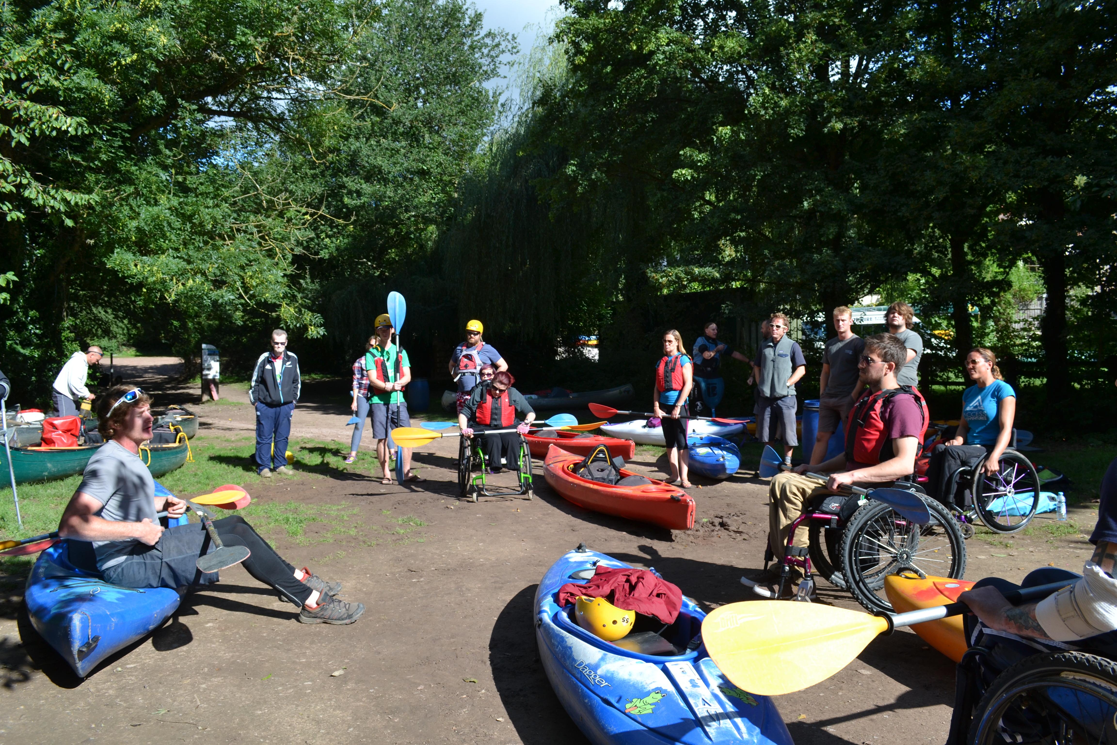 Kayaking set-up