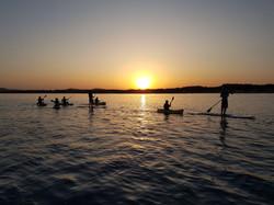 Sunset kayak trip