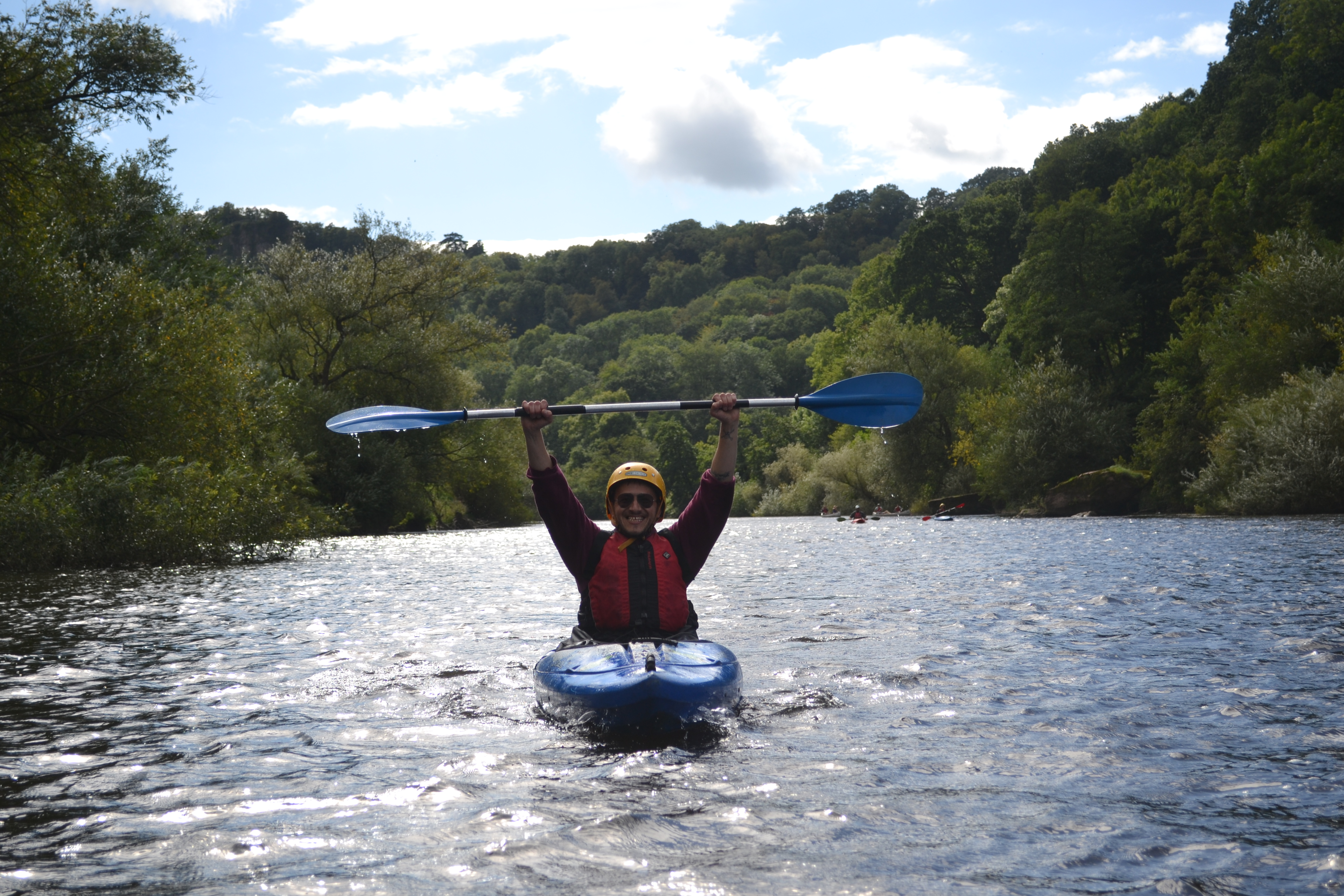Hands up who loves kayaking!