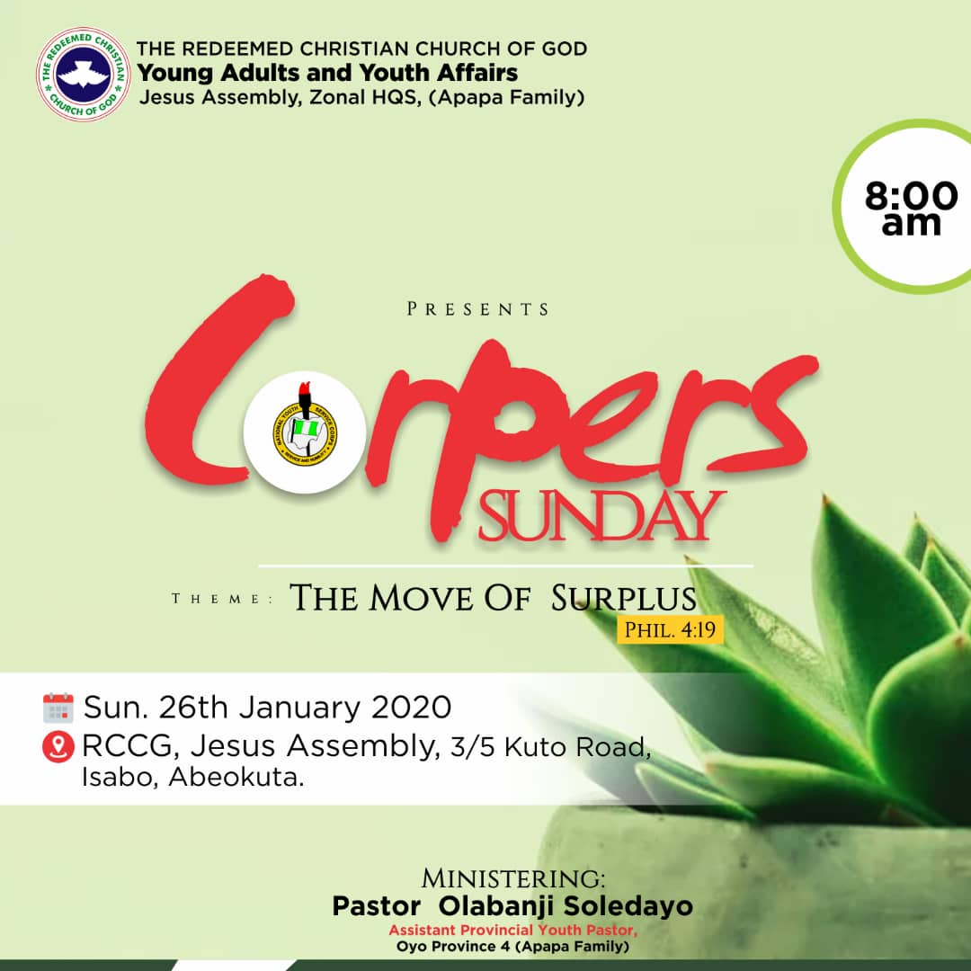Corpers Sunday