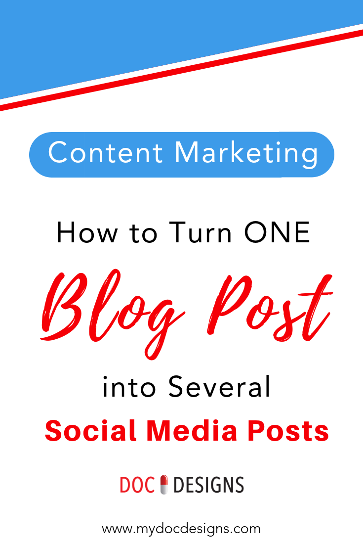 How to Turn ONE Blog Posts into Several Social Media Posts