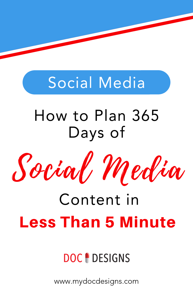 How to Plan 365 Days of Social Media Content in Less Than 5 Minutes