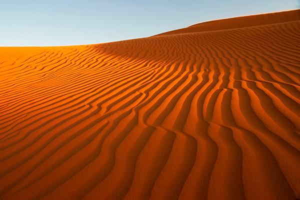 Paisaje del desierto del Sáhara