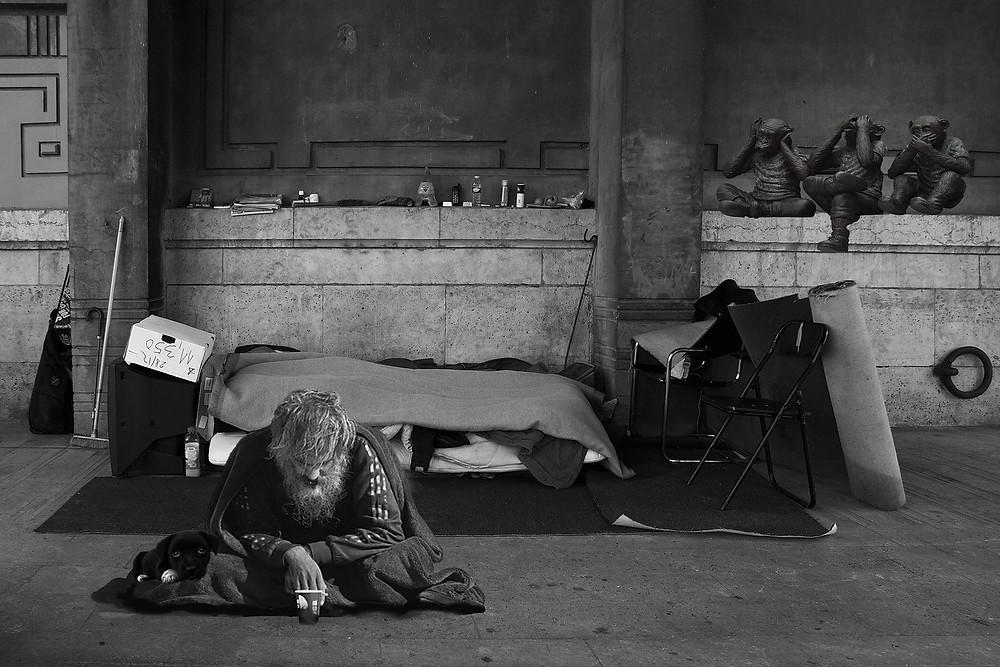Myriam-Fotos Homeless en Pixabay
