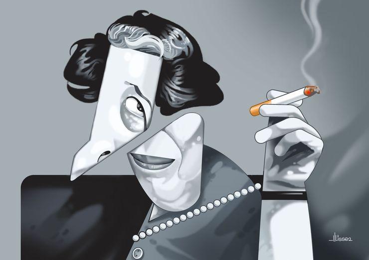 Ulisses Araujo - Caricatura de Hannah Arendt | Pinterest